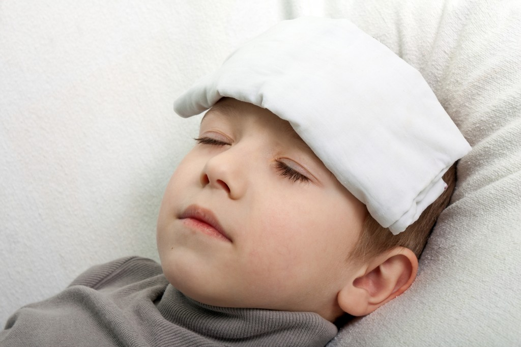 Child with a fever image