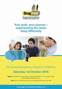 Bereaved By Addiction Conference - DrugFam @ The Holiday Inn | High Wycombe | England | United Kingdom
