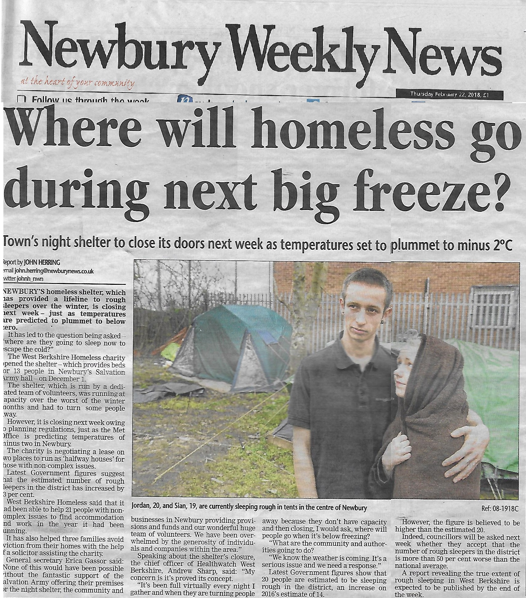Homeless Cold Weather Scan