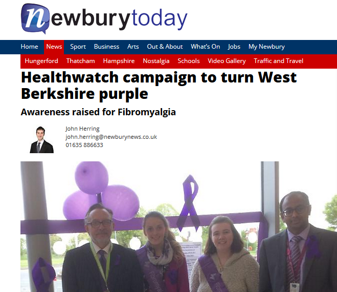 Healthwatch West Berkshire Campaign to Turn West Berkshire Purple