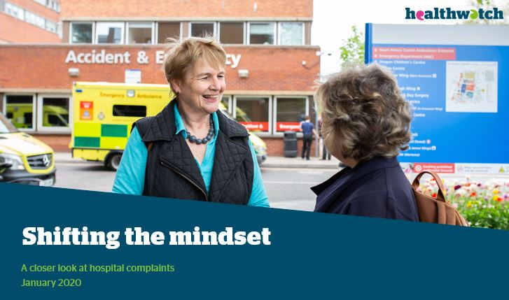 Healthwatch England report Shifting the mindset