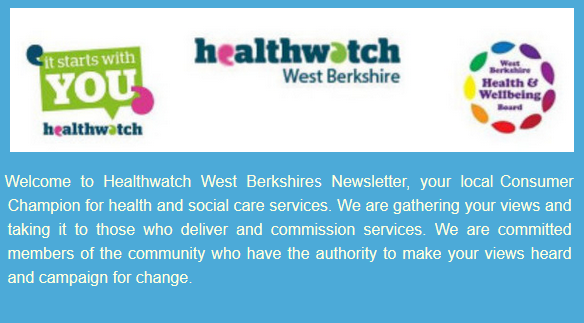 Weclome to Healthwatch West Berkshires Newsletter