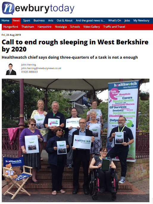 End rough sleeping west berkshire 2020