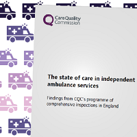 CQC state of care in independent ambulance services report