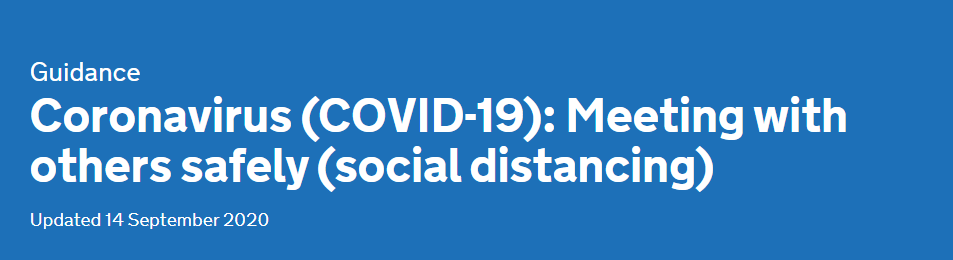 Coronavirus Social Distancing Guidance 14th September